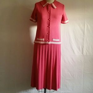 Vintage 50's Dacron Polyester Pink